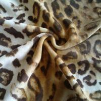 China Animal Printed Polyester/Cotton Velour Fabric on sale