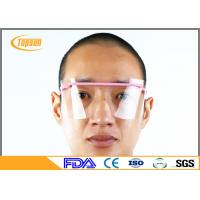 China Anti Fog Disposable Face Shield / medical Goggle PET Material For Labs / Industries Grinding on sale