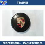 China 80mm Car Brand Logo Porsche Metal Center Wheel Caps Cover Black wholesale