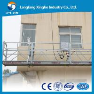 China ce/iso hoist suspended working platform/electric suspended scaffolding/gondola platform wholesale