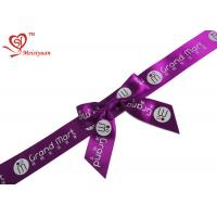 China Holiday Gift Decoration Gift Wrap Bows 1 inch Noble Purple Ribbon Bow wholesale