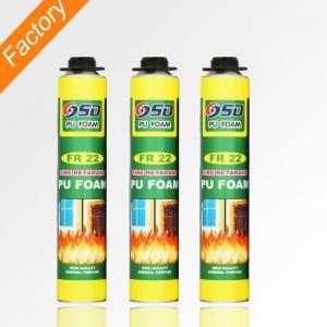 China 500ml 750ml home construction fireproof polyurethane Foam fire proof spray foam insulation on sale