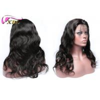 China 130% Density Natural Human Hair Lace Front Wigs With Adjusted Elastic Band Brown wholesale