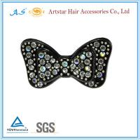 China Butterfly hair clip,crystal rhinestone hair clips, beautiful hair clips for wedding on sale