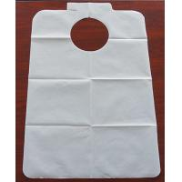 Disposable water proof dental apron for hospital or dentsit clinic ,white apron with Paper+PE