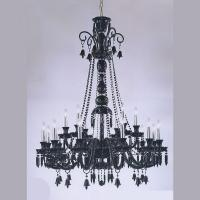 Buy cheap Lead crystal chandelier 18 Lights Black Transparent Color (WH-CY-112) from wholesalers