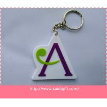 Handmade 3d soft pvc letter style key holders