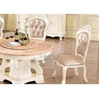 China Antique Dining Room Furniture Leather Wood Design Dining Chair wholesale