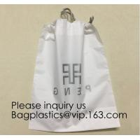 China Laundry Bags Hospitality Plastic Bags Drawstring Closure Write-On Indicator Strips. Clear Hotel Biodegradable Bags With on sale