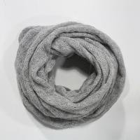 Buy cheap Acrylic Mohair yarns knitting neck scarf in hollow pattern from wholesalers