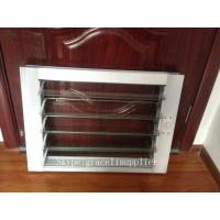 China Folding fixed Aluminum Glass Louvered windows with Australian Standard glass on sale