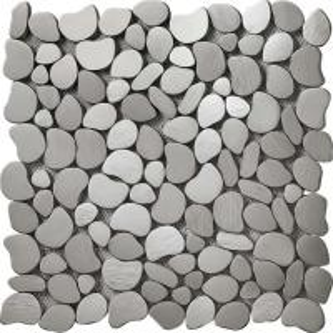China Skid Pebble Design Metal Backsplash Tiles , 2x2 Metal Accent Tiles For Home Decoration wholesale