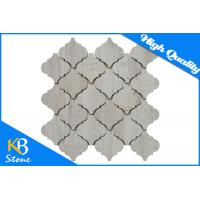 China Wooden Grey Polished Marble Mosaic Tiles Lantern Shape , 10mm Bathroom Wall Tiles wholesale