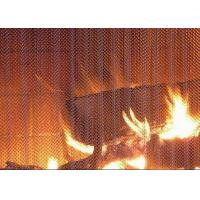 China Professional Metal Coil Drapery / Lightweight Mesh Curtain Fireplace Screen wholesale