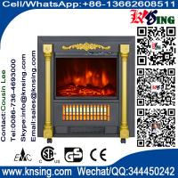 Mobile Fireplaces electric heater fire log electric stove SF-1424 flame effect room Heater Quartz tube infrared wheels