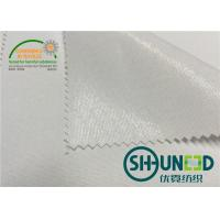 100% Polyester Interlining Fabric With Flat Coating HDPE For Casual Shirt