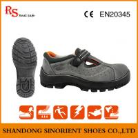 China Top quality breathable Suede leather steel toe summer safety shoes ,Made in china Ce certificate sandal safety shoes , on sale