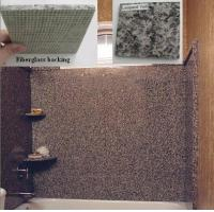 China Fiberglass Granite Tub Surround Thin Laminated Panels on sale