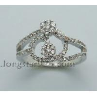 China 925 sterling silver flower ring, manufacture silver ring wholesale