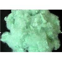 China Non - siliconized 2.5 - 25D X 22 - 76MM hollow green polyester staple fiber for shoes on sale