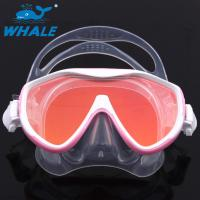 China Scuba Adjustable Scratch resistant Diving Mask Silicone Skirt Tempered Glass Lenses wholesale