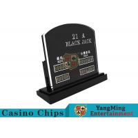 China Blackjack Casino Table Games LED Electronic Bet Limit Sign With Customized Style wholesale