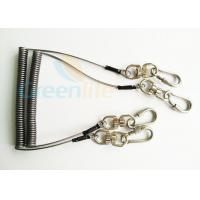 China Steel Spring Coil Tool Lanyard With 8 Shape Swivel / Stainless Carabiner wholesale