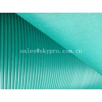 China Corrugated anti - skid rubber sheet roll with lined grooves on top wholesale