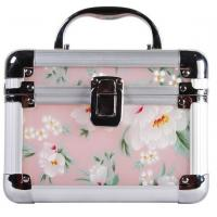 China Beautiful Plastic Cosmetic Box With Aluminum Frame / Arcylic Jewelry Box With Printting on sale