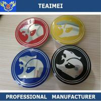 China Customized Colorful Hsv 63mm Car Wheel Center Caps / Auto Names And Logos wholesale