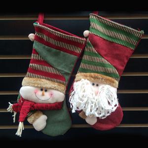 China Printed nonwoven fabric christmas sock stockings wholesale