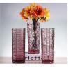 China Weaving Colored Glass Vase / Transparent Desktop Decoration Vase wholesale