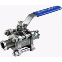 China High quality 3PC Stainless Steel Clamp Ends Ball Valve Hot sale!!! wholesale