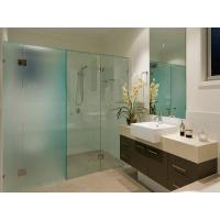 Toughed Acid etched glass door , frosted tempered shower glass panel