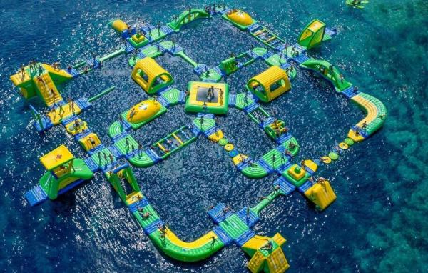 Quality Giant Size Summer Popular Inflatable Floating Water Park Games For Adults for sale