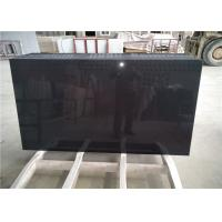 China Pure Black Quartz Table Top Anti - Scratch Jumbo Size 40  For Living Room Table on sale