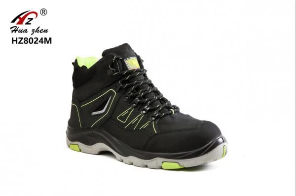 Quality Unisex Black Sport Style Safety Shoes Waterproof Puncture Resistant For Mining for sale