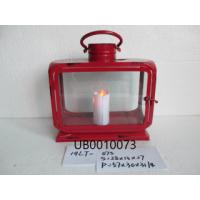 China Large Square Candle Light Lantern Warmer Natural Red Candle Lantern for Household wholesale