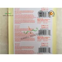 China Custom Printed Labels With UPC Barcode Strong Adhesive For Clothes Packing on sale