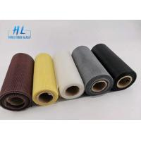 China PVC Coated Fire resistant Black color Fiberglass Mosquito Mesh For Preventing wholesale