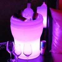 Buy cheap personalized Led colour changing ice bucket with stand funky ice buckets from wholesalers