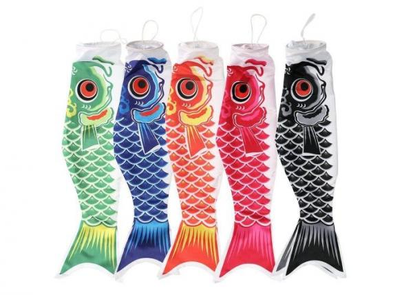 Quality Mini Fish Windsock Colorful Silk Screen Printing Beautiful Flying Style for sale