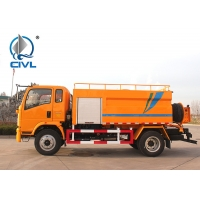 China HOWO Vacuum Sewage Suction Truck / Sinotruk 4.58 L Displacement 4x2 10 - 16m3 Sewer Cleaning Truck wholesale