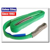 China 2000kg Working Load Polyester Endless Round Slings , Cargo Lifting Straps Green wholesale