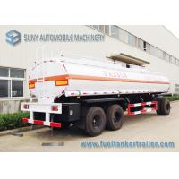 High Performance 20000L 3 Axle Train Oil Tank Trailer With Ellipse Shaped