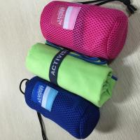 China Sports Microfiber Suede Towel / Quick Dry Travel Towel 140 - 300GSM Weight wholesale