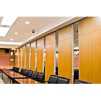 China Heat Insulation Folding Movable Office Partition Walls With Multi Direction Wheels wholesale