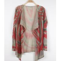 China Red Fine Knit Sweater Poncho Women Printed Shrugs with ventilate wholesale
