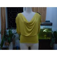 China Cosy Mustard Womens Fashion Tops Plus Size Drape Neck Tops With Sleeves wholesale