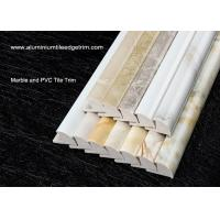 China Solid Marble Effect Tile Corner Trim / 12mm Inside Height Quarter Round Tile Trim wholesale